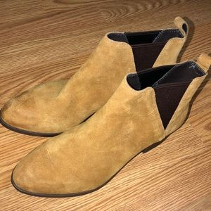 Sole Society oil suede qvc booties leather brown